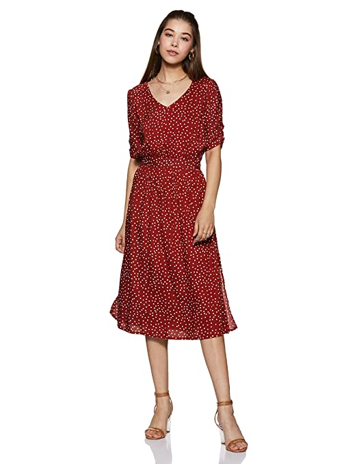Harpa Synthetic a-line Casual Dress