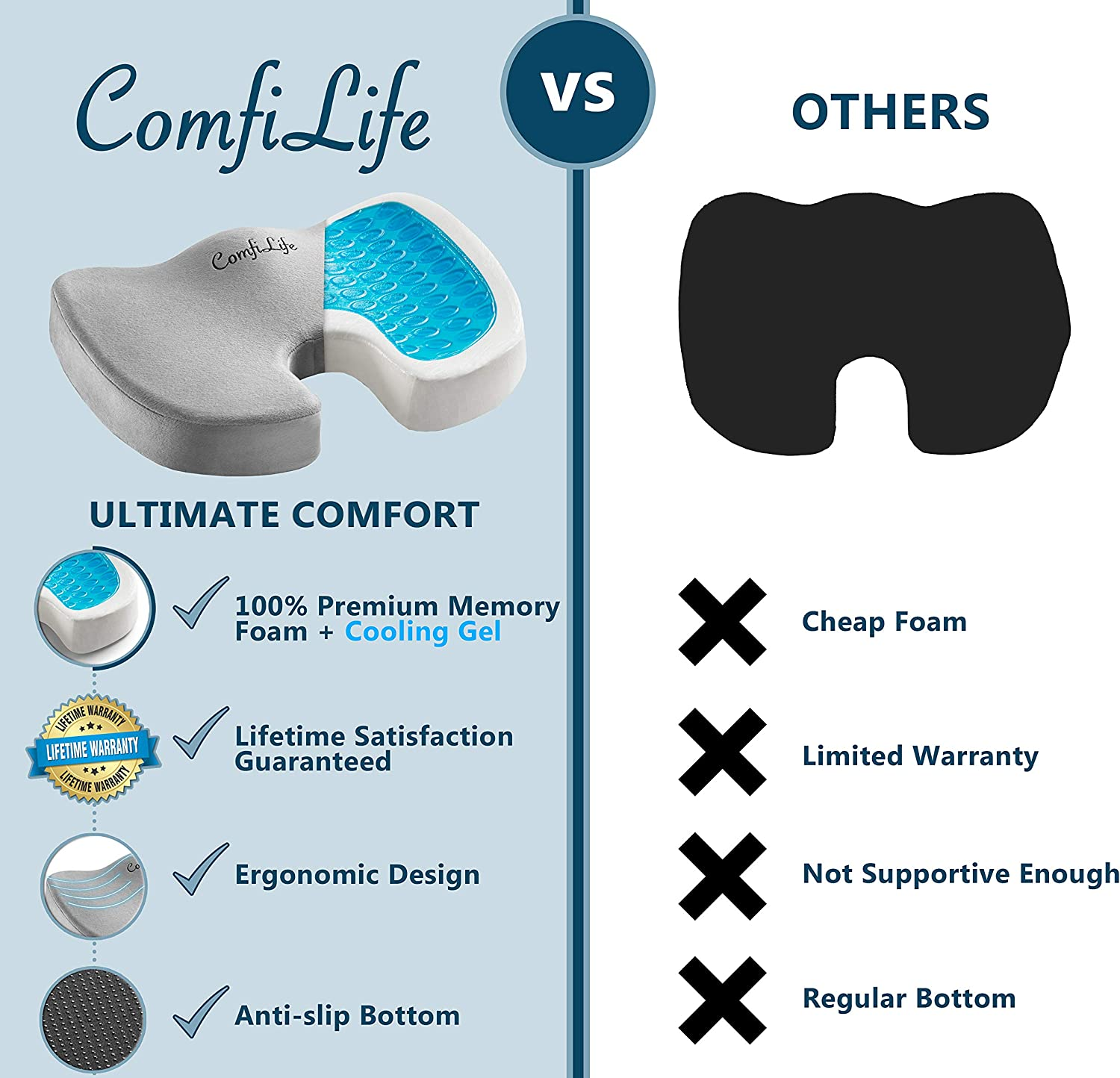 81qIIOFShsL. AC SL1500 - What Are The Best Seat Cushion For Buttock Pain That Help You Sit Comfortably - ChairPicks