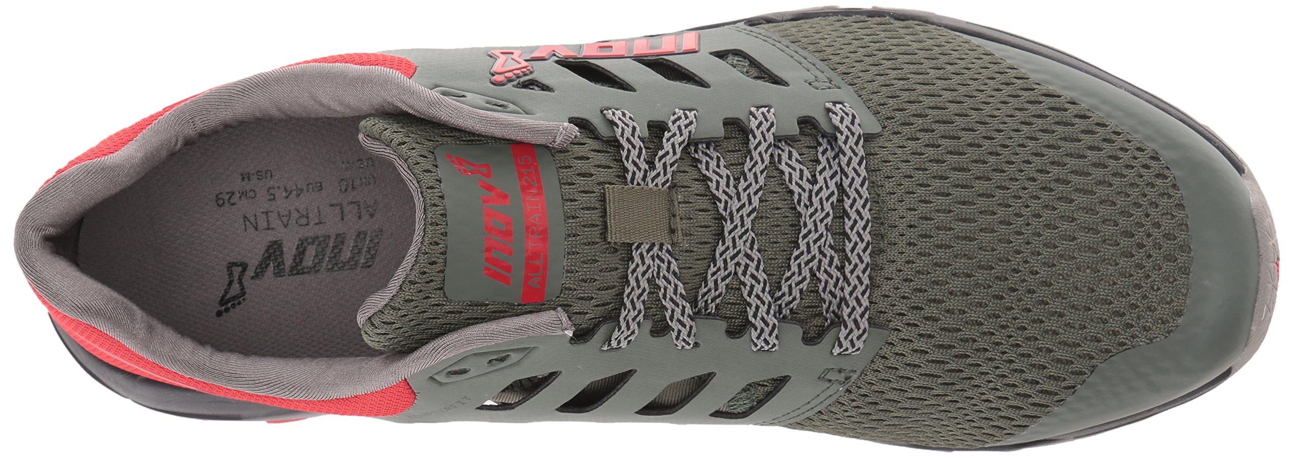 Inov-8 Men's All Train 215 Cross-Trainer Shoe, Dark Green/Red/Black, 12 D US by Inov-8 (Image #8)