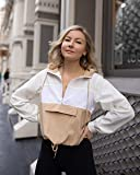 The Drop Women's Golden Sand Color Block Half-Zip Hooded Pullover by @laurie_ferraro