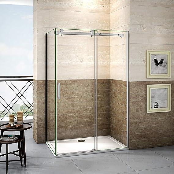 120x90x195cm Mamparas de ducha cabina de ducha 8mm vidrio templado ...