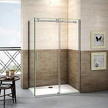 120x90x195cm Mamparas de ducha cabina de ducha 8mm vidrio templado de Aica: Amazon.es: Bricolaje y herramientas