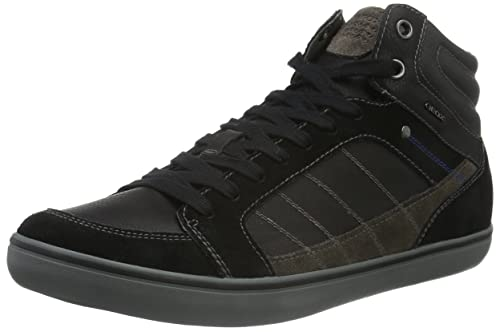 Geox U Box G Mens HiTop Sneakers Black Blackc9999