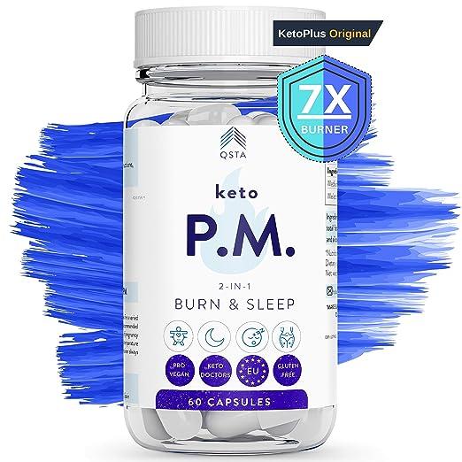 Keto Plus Quemagrasas NOCHE 2-EN-1 Adelgazar + Dormir Sueño REM, Quema grasas potente y rapido para adelgazar, pastillas adelgazar efectivas, Keto ...