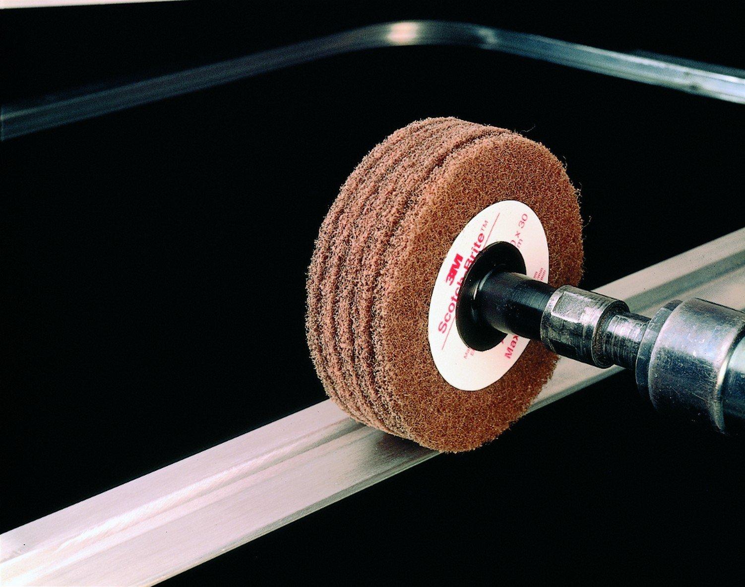 Scotch-Brite(TM) Cut and Polish Disc D5, Aluminum Oxide, 4 Diameter, Medium Grit, Tan (Pack of 10)