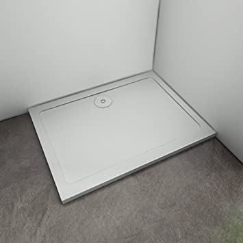 Perfect New 30mm Slimline Shower Enclosure 760x1000mm Rectangle Stone Tray with waste