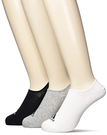 82c08632a adidas Men's Performance Invisible 3 Pairs Socks, Medium Grey Heather/White/ Black,