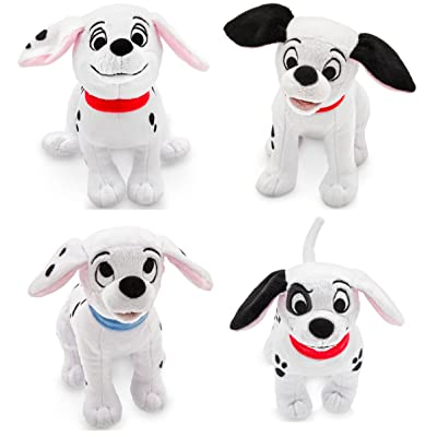 Disney Store 101 Dalmatians Plush Mini Bean Bag Bundle of 4: Patch, Penny, Lucky, Rolly: Toys & Games