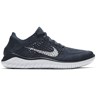 nike free rn flyknit 2018 men's shoes college navy