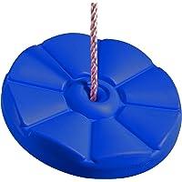 Ultrakidz siège de balançoire, disque de balançoire fleur, balançoire à disque en plastique résistant aux intempéries, réglable en hauteur, idéal en tant que balançoire suspendue à un arbre ou que balançoire individuel pour sa propre aire de jeux à l'extérieur, bleu