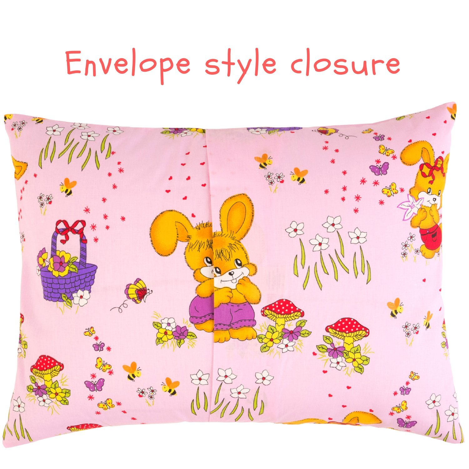 Toddler Pillowcase 13x18 by Comfy Turtles 100 Natural Cotton or Get a Smile from a Kid with Cute Animals of this Soft Pillow Cover for Boys and Girls Beige Turtles