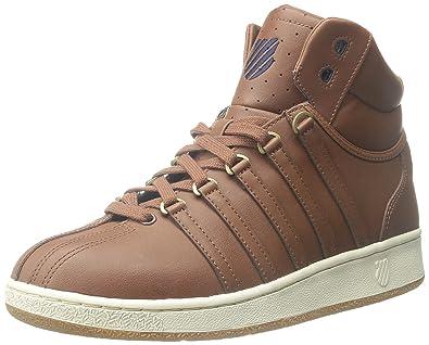 super popular de7a1 32773 K-Swiss Classic VN Mid Iconic Fashion Sneaker, Friar Brown ...