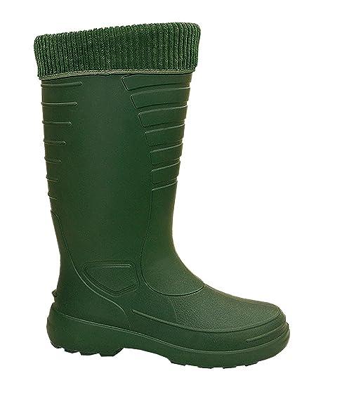 LEMIGO - Botas de agua unisex, color verde, talla 39