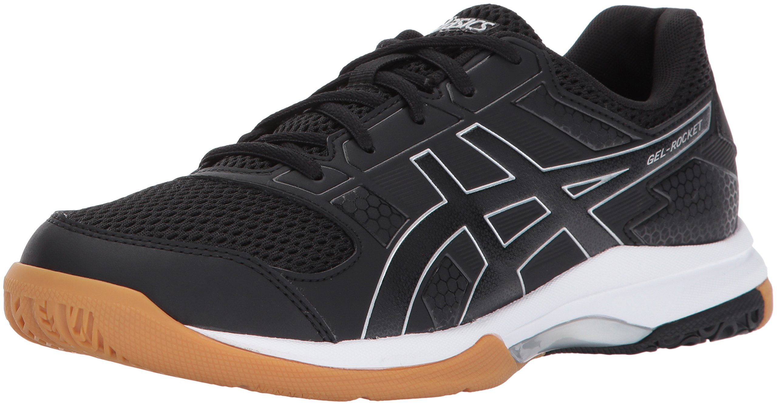 ASICS Women's Gel-Rocket 8 Volleyball Shoe, Black/Black/White, 8 Medium US