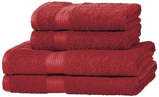 187 opinioni per AmazonBasics- Set di 2 asciugamani da bagno e 2 asciugamani per le mani che non