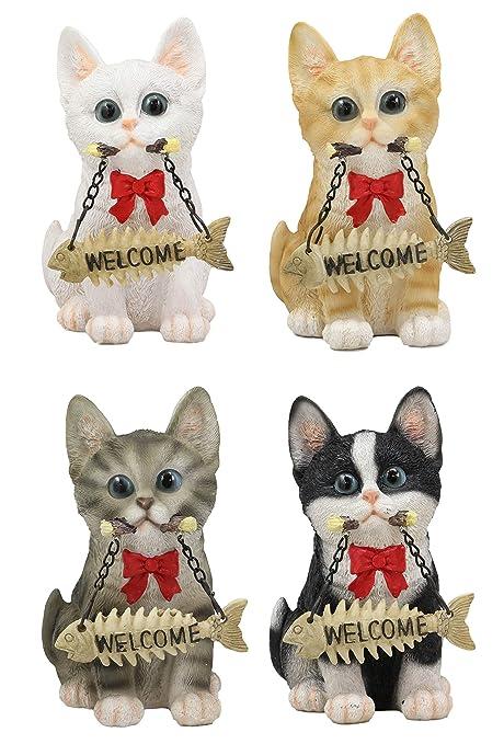 Amazon.com: Ebros - Juego de 4 figuras realistas de gatitos ...