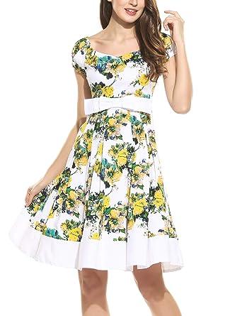 5405c35a9658 Meoket Short Sleeve Pleated Swing Dress, Black Dresses for Women Party Black  Retro Dresses, Black Dresses Girls Flowing Knee Length Summer Dress Dresses  at ...