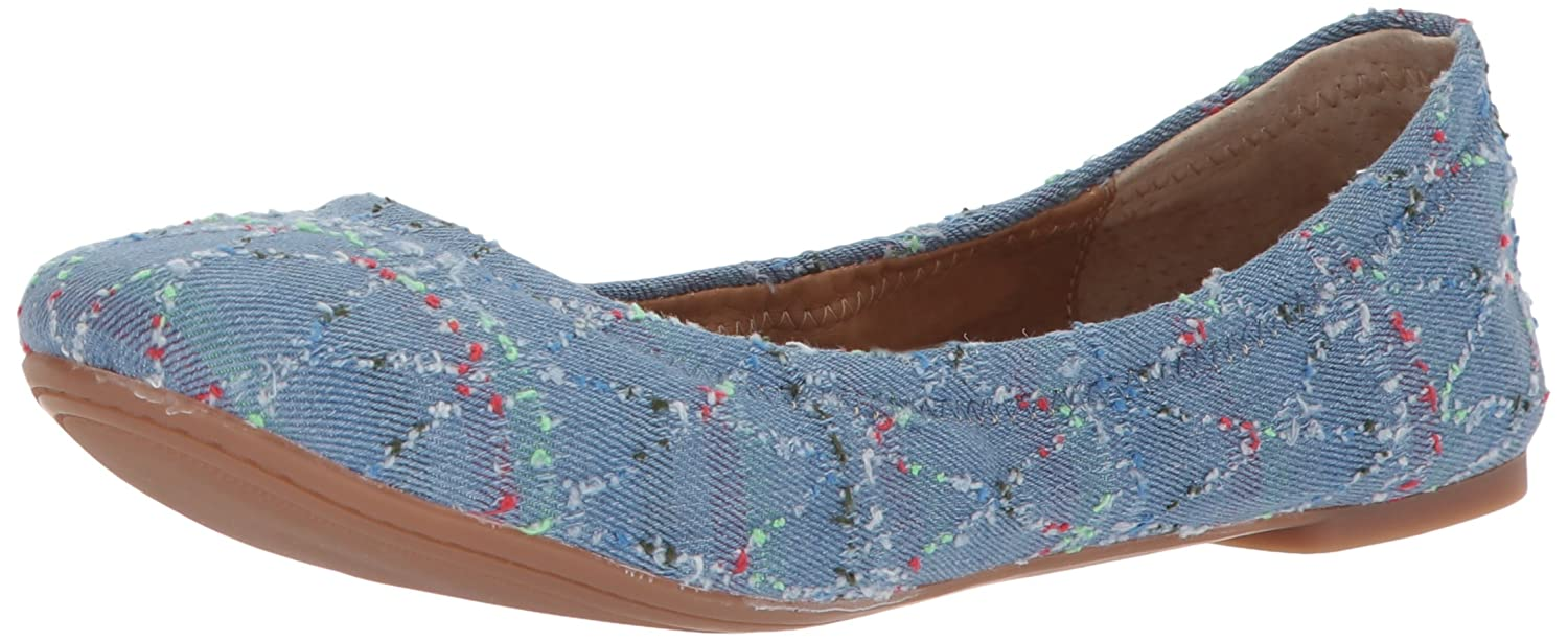 Lucky Women's Emmie Ballet Flat B0744WPWY2 12 B(M) US|Light Denim