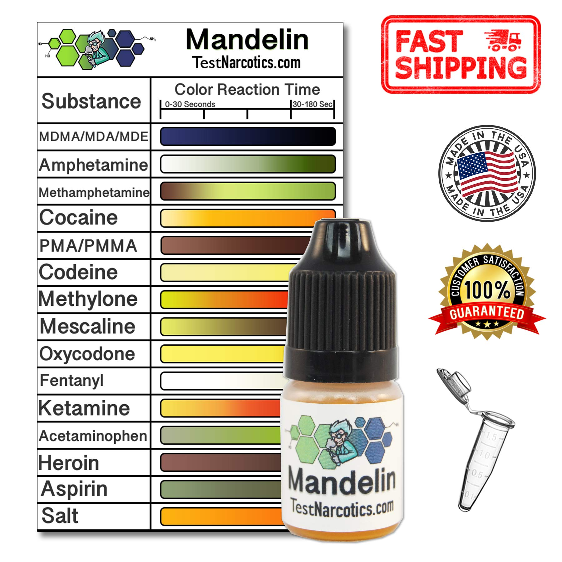 Test Narcotics - Mandelin Reagent Testing Kit | 7ml Bottle for up to 140 Individual Tests by Test Narcotics