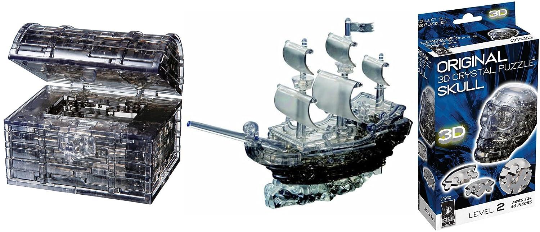 【5%OFF】 元3d B076TXP8KT BepuzzledクリスタルパズルBundle Treasure – Pirate Ship , Treasure Chest Ship、スカル B076TXP8KT, 住之江区:1b5c53c2 --- clubavenue.eu