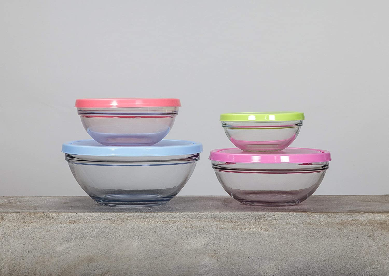 Ref 1611889 Pasabahce Set of 4/Snack Bowl 14//17//20//23/cm