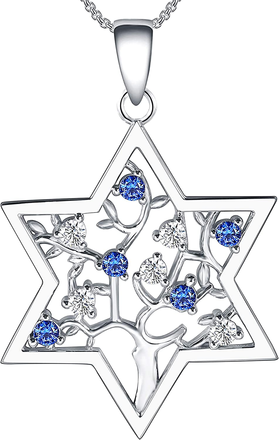 925 Sterling Silver Jewelry, Jewish Star Of David Jewelry, Tree Of Life Jewelry, Necklace, Earrings, Birthday Gifts, Hanukkah Gifts, Christmas Gifts, Thanksgiving Gifts, Jewish Gifts