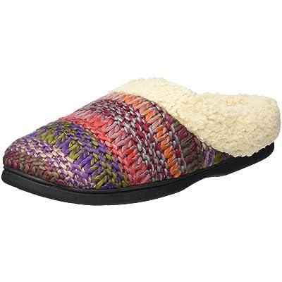 Dearfoams Women's Wide Width Chunky Knit Clog Slipper   Mules & Clogs