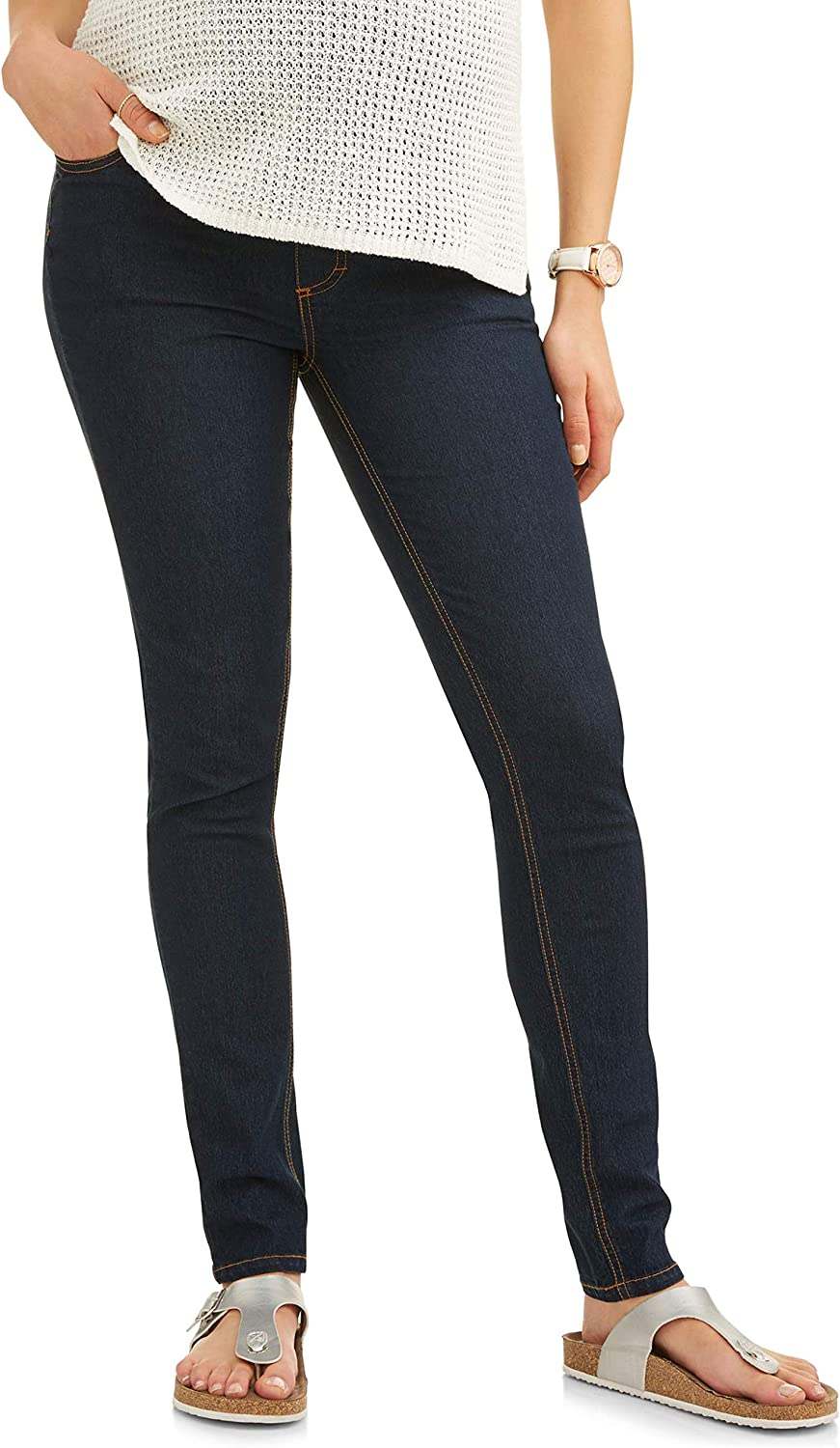 RUMOR HAS IT Maternity Embroidered Pocket Skinny Over The Belly Jeans