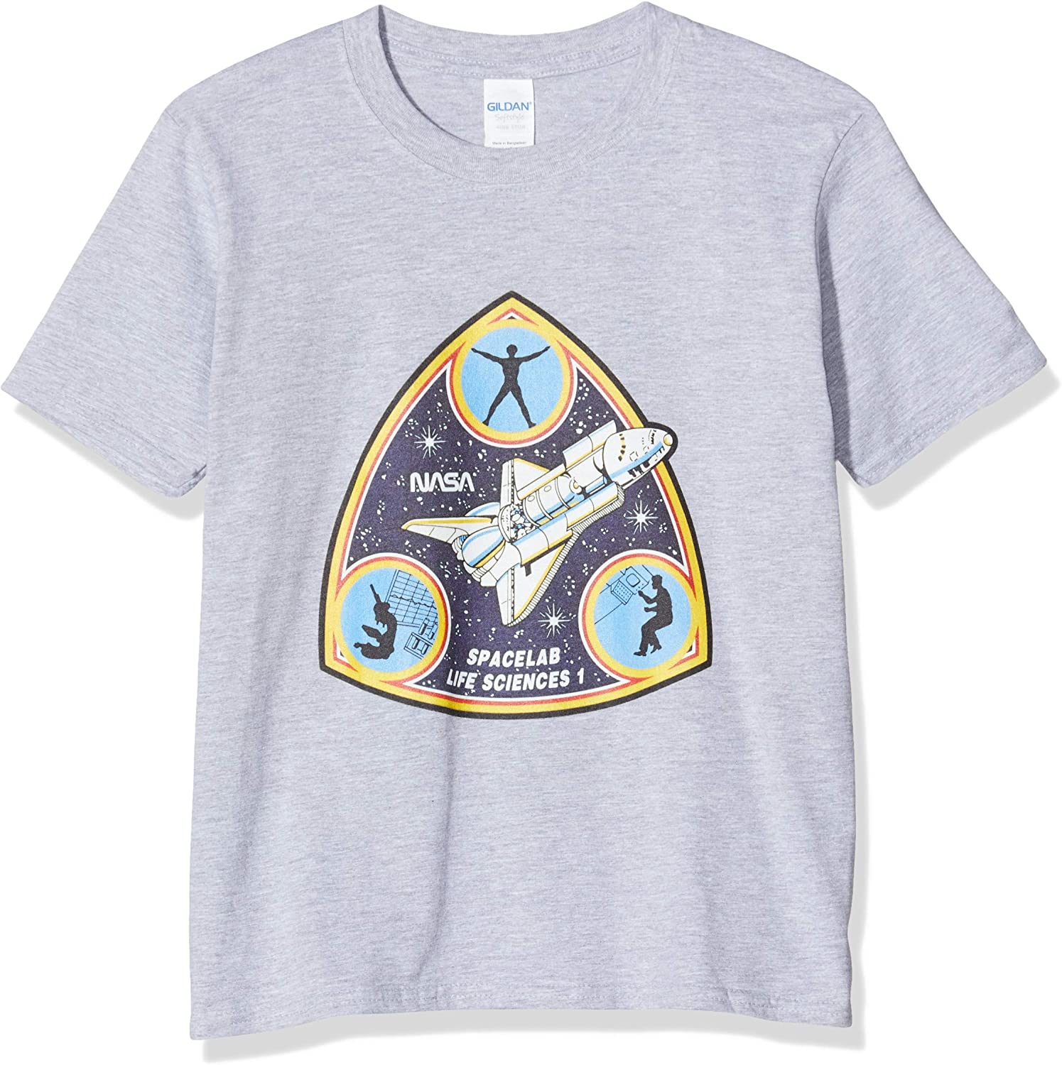 Brands In Limited M/ädchen NASA Spacelab Life Sciences T-Shirt