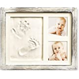 Baby Hand and Footprint Kit in Rustic Farmhouse Frame, a Baby Registry Must Have - Baby Handprint Kit, Baby Footprint Kit, Ba