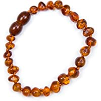 Baby J's 100% Genuine Baltic Amber Anklet Bracelet Cognac sizes 11cm 12cm 13cm 14cm 15cm 16cm 17cm Money Back Guarantee.