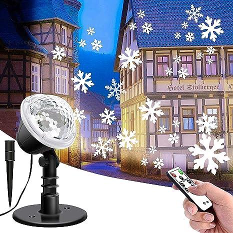 Festival Christmas Decor Snowflake Projector LED Lights Xmas Laser Outdoors Lamp