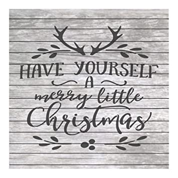 amazon co jp クリスマスwordsステンシルquote have yourself a little