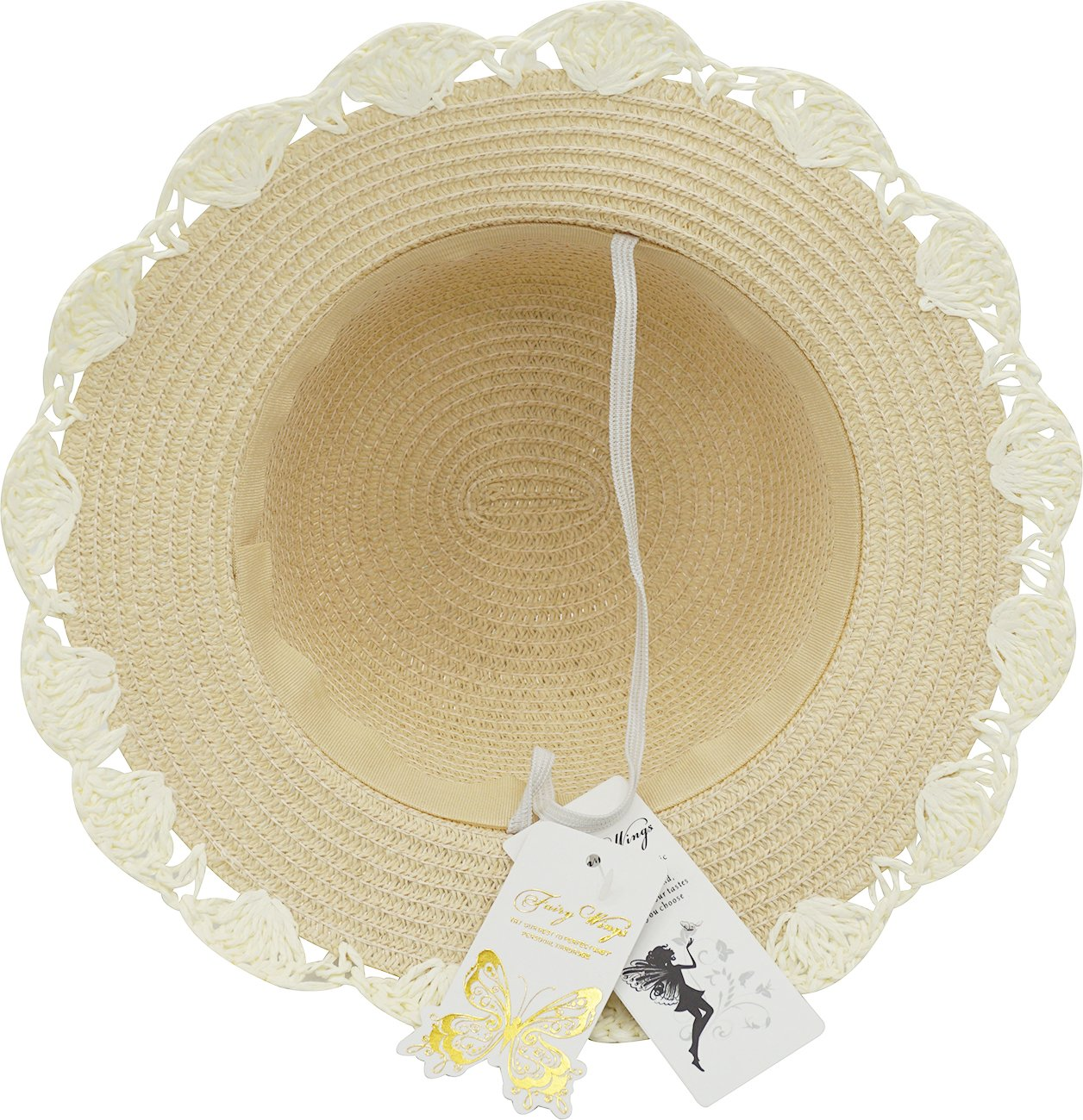 Little Children Babies Lace Bowknot Princess Sun Bonnet Straw Hat by Fairy Wings (Image #4)