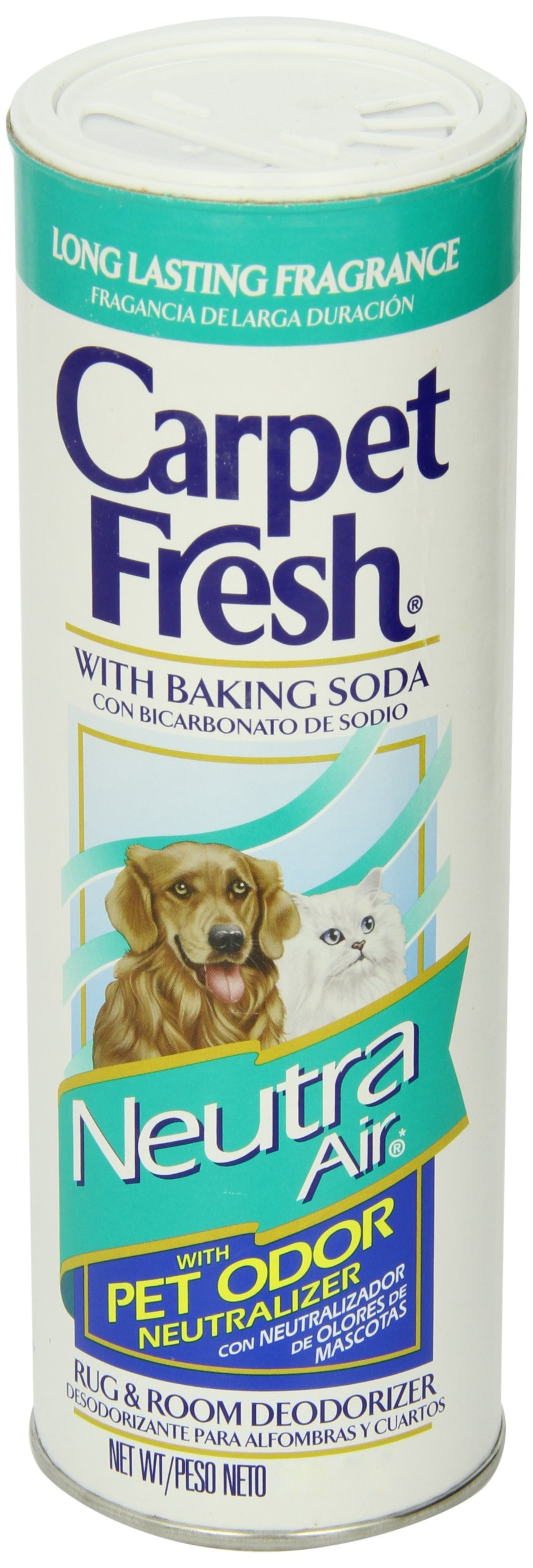 Carpet Fresh Rug and Room Deodorizer with Baking Soda and Pet Odor Neutralizer, Neutra Air Fragrance, 14 OZ [12 Pack]