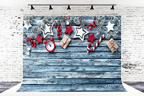 Amazon Com 7ft X 5ft Christmas Wood Wall Microfiber
