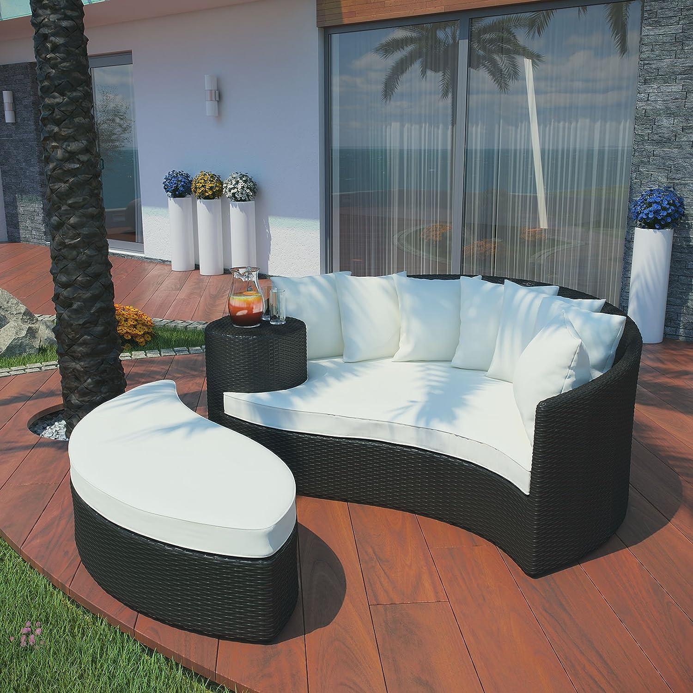 Amazon.com : Modway Taiji Outdoor Patio Daybed in Espresso White : Patio  Sofas : Garden & Outdoor