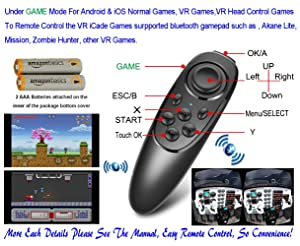 Universal Wireless Gamepad VR Controller (Color: VR-Remote With Battery)