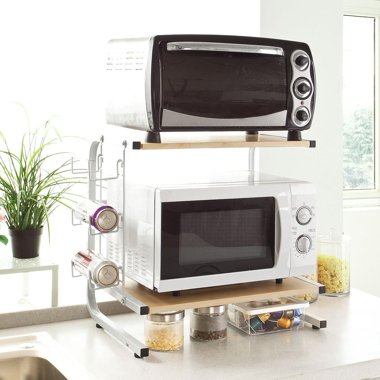 sobuy® frg092-n meuble rangement cuisine de service en bois ... - Meuble Cuisine Pour Four Et Micro Onde
