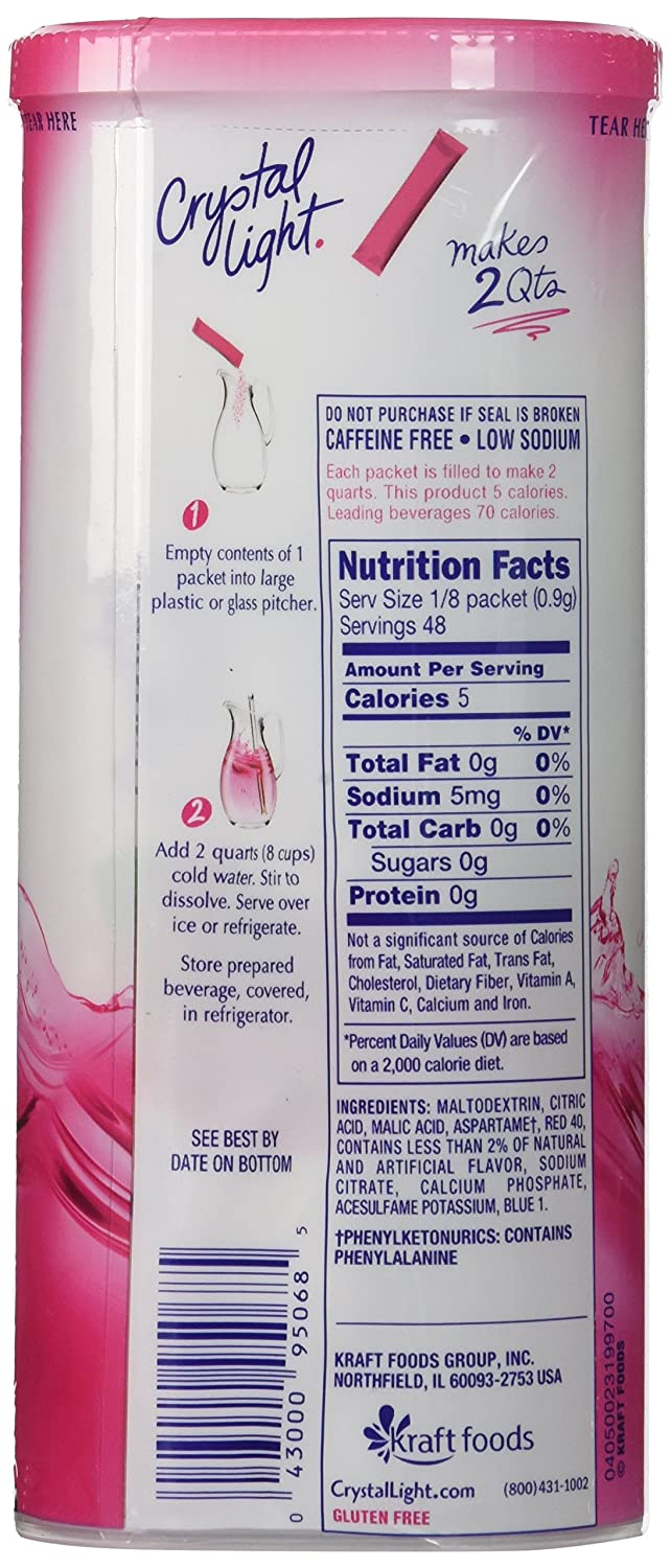 Amazon.com : Crystal Light Raspberry Ice Drink Mix (12 Quart), 1.3 Ounce  Packages (Pack Of 4) : Powdered Soft Drink Mixes : Grocery U0026 Gourmet Food Nice Design