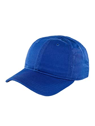 Lacoste Men Caps Snapback Cap Gabardine Croc Blue Adjustable d4fe0af3c29