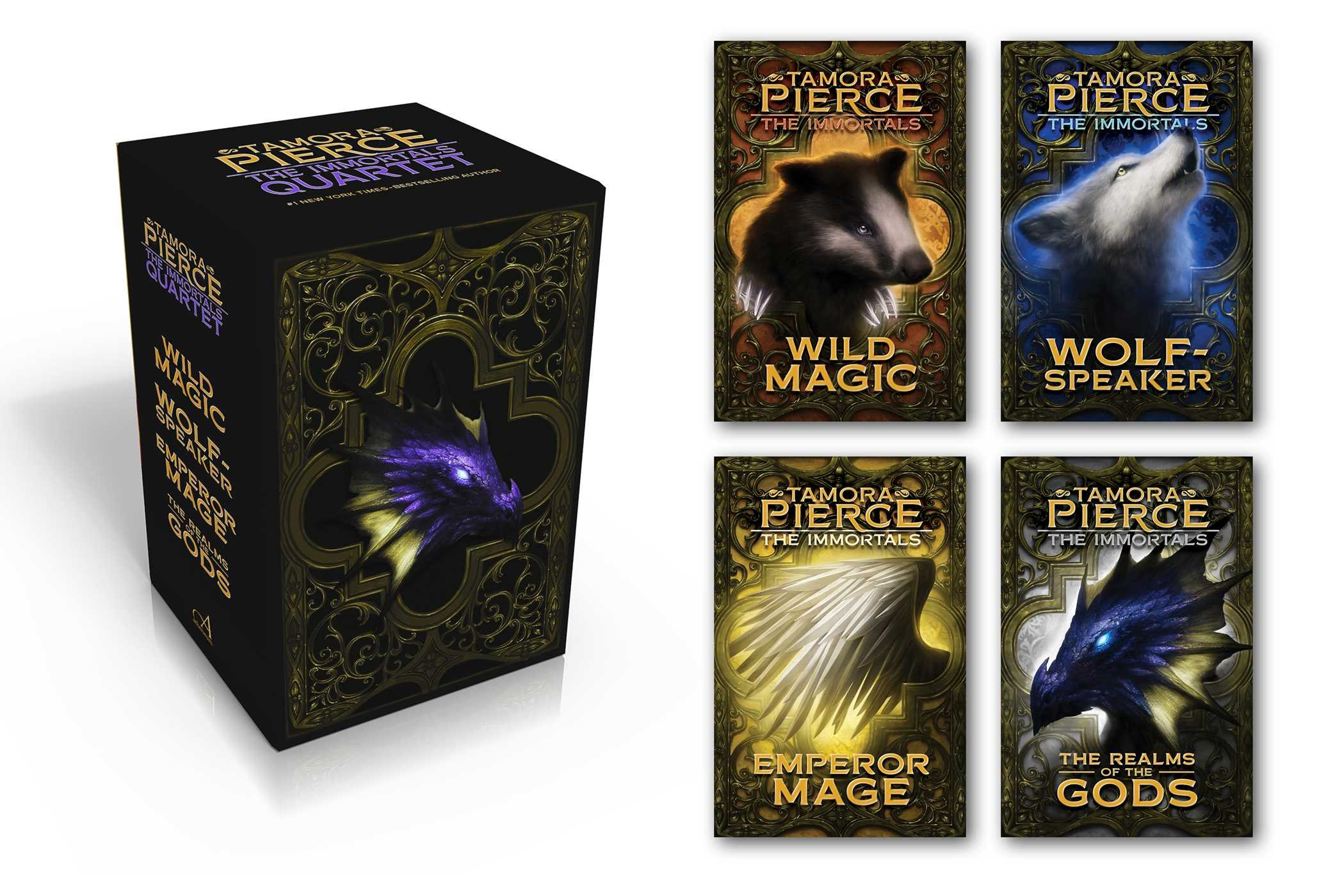 Amazon: The Immortals Quartet: Wild Magic; Wolfspeaker; Emperor Mage;  The Realms Of The Gods (9781481440301): Tamora Pierce: Books