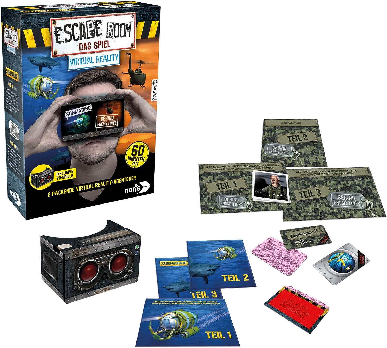 Noris 606101666- Escape Room Ampliación Virtual Reality – Familia y Juego de Sociedad para Adultos – Incluye Gafas VR – Se Puede Jugar por sí Mismo – a Partir de 14 años: Amazon.es: Juguetes y juegos