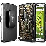 NageBee Droid Maxx 2 Case, Motorola Moto X Play (2015 Release Verizon), [Heavy Duty] Armor Shock Proof Dual Layer [Swivel Belt Clip] Holster with [Kickstand] Combo Rugged Case - Camo
