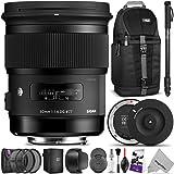 Sigma 50mm F1.4 ART DG HSM Lens for CANON DSLR Cameras w/ Sigma USB Dock & Advanced Photo and Travel Bundle