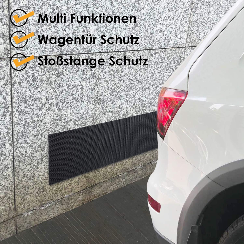 Noir Femor Protection Murale De Garage Super Epais 2 M de Longeur Ruban Eponge Antichoc pour Bord de Voiture ou Pare-chocs Mousse Adh/ésive et Imperm/éable /épaisseur 6,5mm 2 Pi/èces