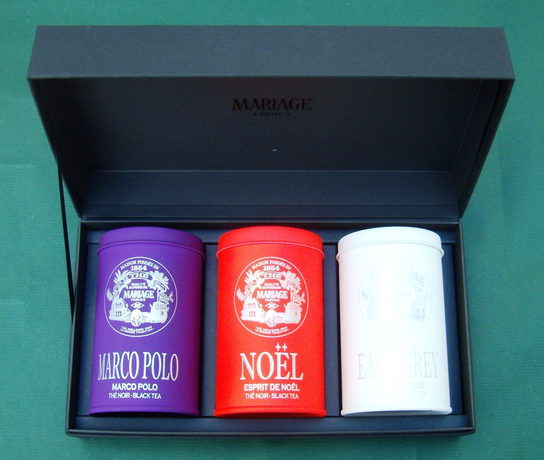 Mariage Frères - MASTERPIECE® - 3 Teas gift set - EACH: 3.52oz / 100gr canister / tin