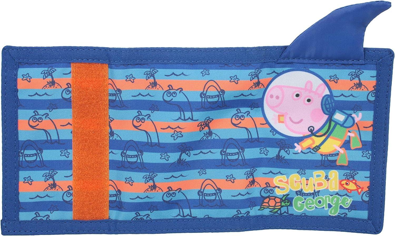 George Pig Underwater Scuba George Tri Fold Childrens Wallet Blue