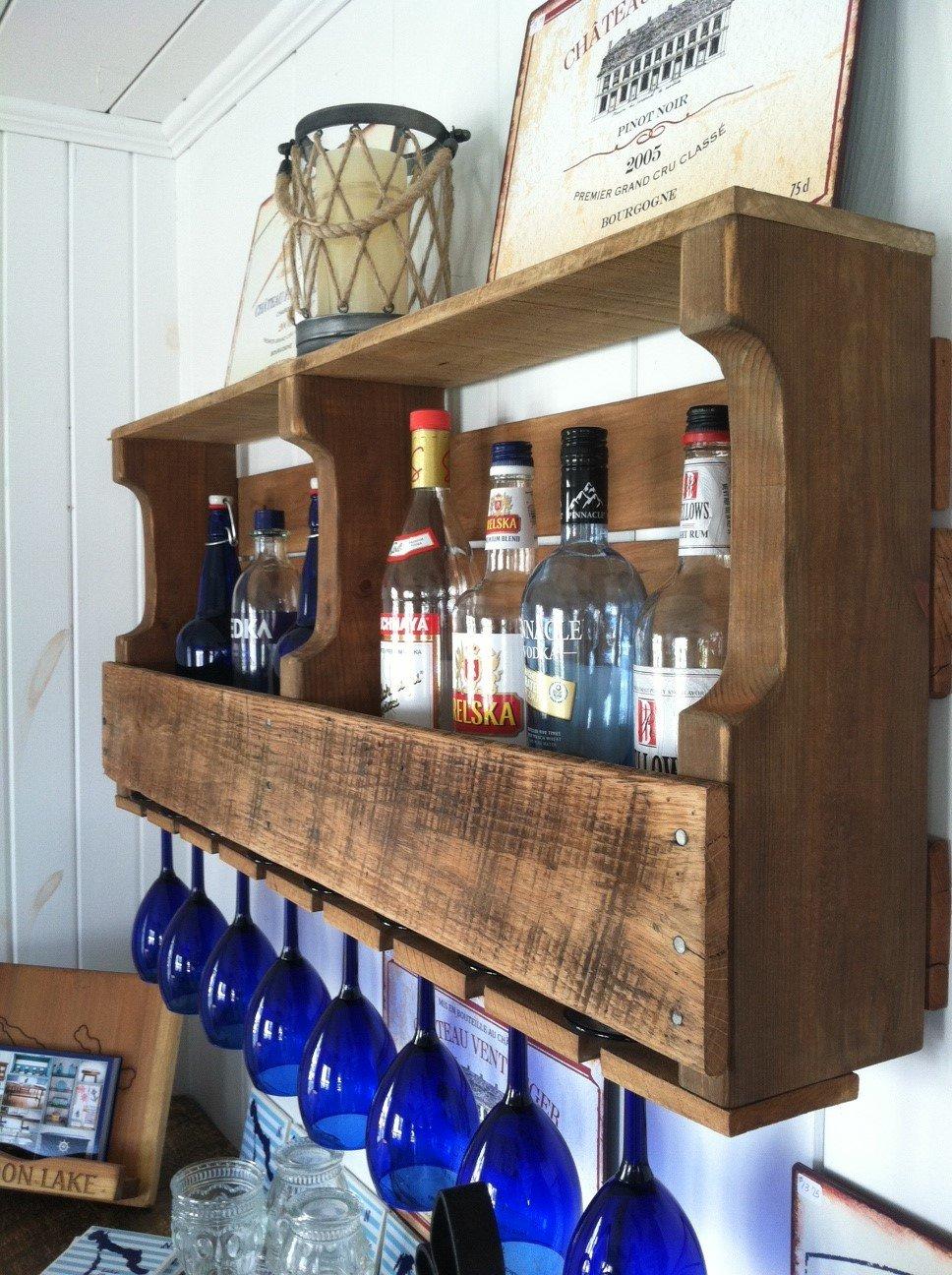 Wine Rack, Rustic, Primitive, Handmade From New Wood