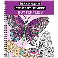 Brain Games - Color by Number: Butterflies